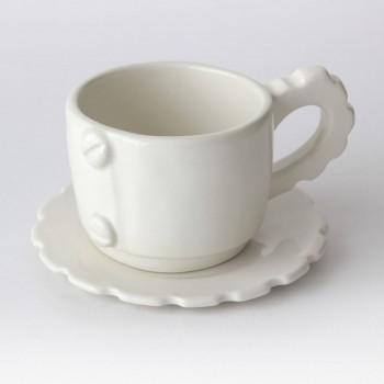 Tazza da tè con piattino / COLOR GEAR / Bianco