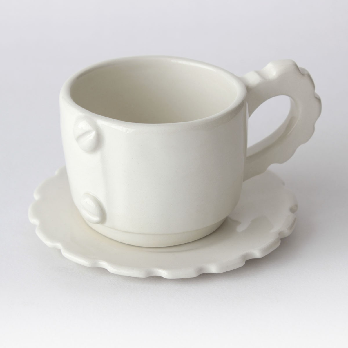 Tazze Da Te Personalizzate tazza da tè con piattino color gear | clay heart lab® shop
