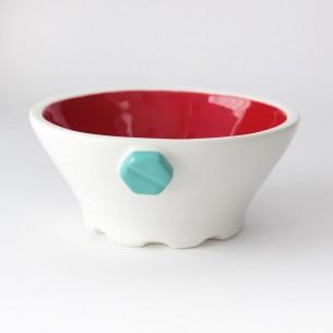 Ciotola / COLOR GEAR / Rosso - Verde Acqua