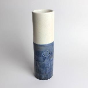 Vaso rustico con smalti a effetto